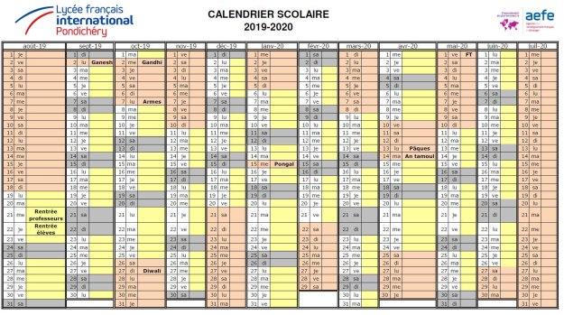 Calendrier Allemand 2020.Calendrier Scolaire 2019 2020 Lfp Fr